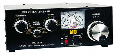 MFJ-962D 1.8 To 30MHz 1500W Manual Tuner With Wattmeter