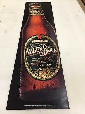 """Michelob Amberbock / Bacardi Silver Double Sided Sign 19""""x74"""""""