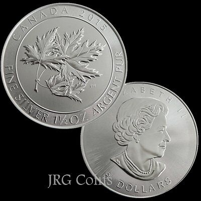 2016 Canadian 1.5 oz multi maple leaf 999.9 Silver Bullion Coin.