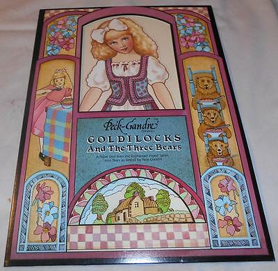 Peck-Gandre Goldilocks and The Three Bears Paper Doll Set dated 1988