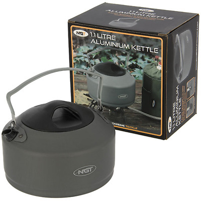 NGT 1.1L Kettle Folding Handle Ideal For Camping Hiking Fishing Camping Portable