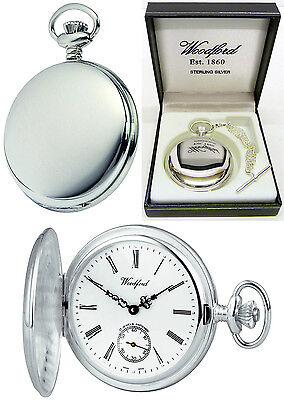 Sale -  Woodford Sterling Silver Hunter Swiss 17 Jewel Mvmnt Free Engraving 1064