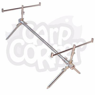 Carp Fishing Adjustable Aluminium Classic Rod Pod With Alarm & Carry Case By NGT