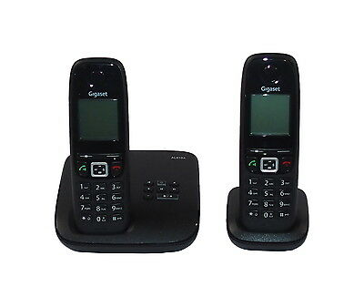 Gigaset AL410A Duo Digital Cordless Phone With Answering Machine And PS