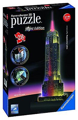 Ravensburger 3D-Puzzle Night Edition Empire State Building - NEU OVP