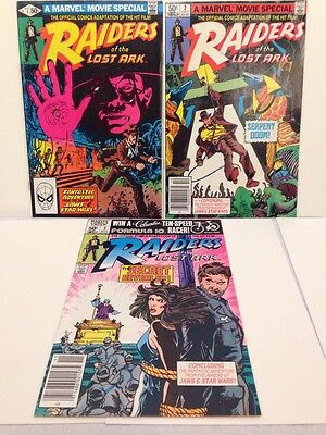 Bronze Age Raiders Of The Lost Ark #1, #2 & #3 1981 VF+ Set Marvel Movie Special