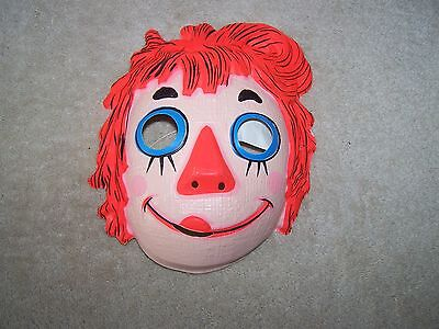 Vintage 1972 Raggedy Ann The Bobbs-Merrill Co. Ben Cooper Halloween Mask