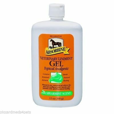 Absorbine Veterinary  Liniment gel 12oz Gel muscle joint relief stimulates
