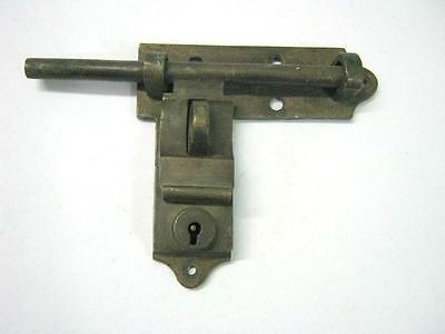 Antique Brass Latch With Lock