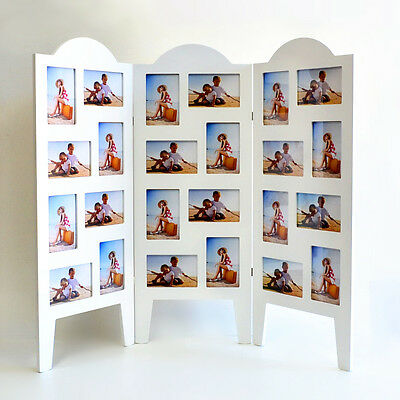 Home Decor Gift Wooden Tabletop Freestanding 24 X 6' Photo Picture Frame White