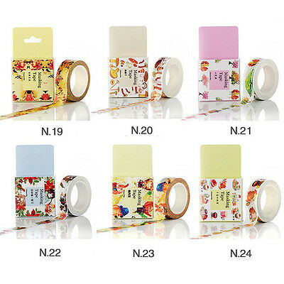 Vintage Craft Washi Tape 15mm×10m Party Scrapbooking Gift Camellia Tree Style