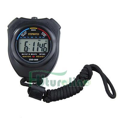 Professional Digital Handheld Sports Stopwatch Stop Watch Timer Alarm Counter UK