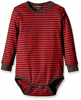 Maxomorra - BASI-M015 Bodysuit LS Striped, Pagliaccetto unisex bimbi, Brown/Red,