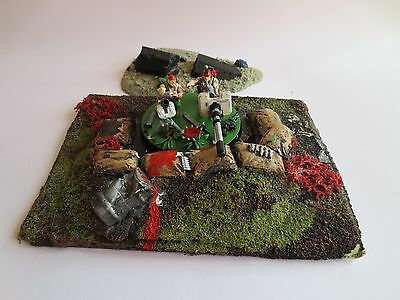 Warhammer 40K Heavy Weapons Emplacement Scenery Terrain Sand Bag Walls G97