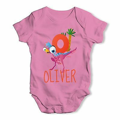 Personalised Dinosaur Letter O Funny One-piece Infant Bodysuit Baby