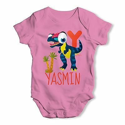 Personalised Dinosaur Letter Y Funny One-piece Infant Bodysuit Baby