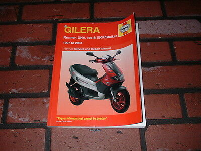 Haynes Manual For Gilera Runner Dna Ice Skp Stalker. 1997 To 2004.