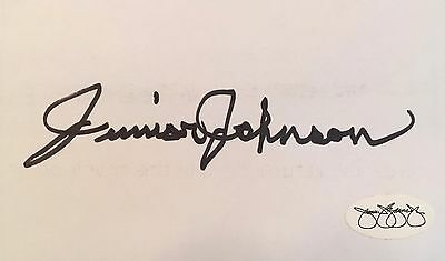 JUNIOR JOHNSON (NASCAR) signed/autographed  3x5 index card-JSA Authenticated