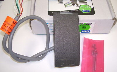 HID iClass R10 Card Reader, 6100, Charcoal Gray, 13.56MHz, New