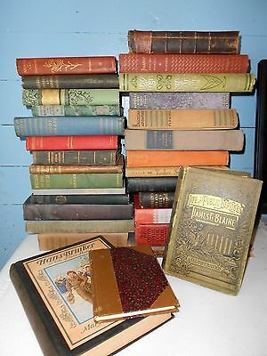 Lot of 10 UNSORTED MIX ANTIQUE Vintage Books Collectible 1800's HARD TO FIND