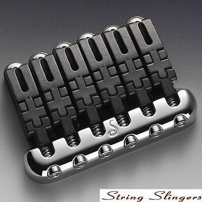 Schaller Hannes 6-string Guitar Bridge Chrome 12010200