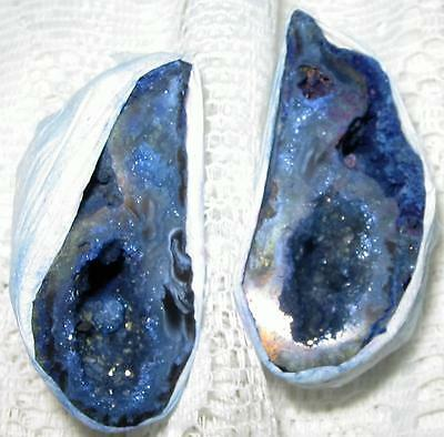 BEAUTIFUL PAIR OF AGATE Crystal *LOVE CAVES* 4.7x2.3cms Geodes / A1++ GRADE