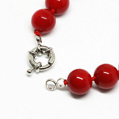 """New fashion red coral 8mm round beads Gemstone  necklace 18"""" jewelry"""