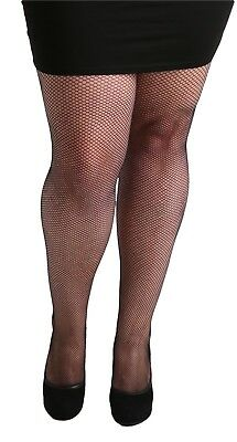 New Ladies Women Pamela Mann Fishnet Black Tights--Plus Sizes