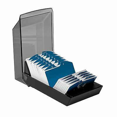 Rolodex 67011 Rolodex Covered Business Card File, 500 2-1/4x4 Cards, 24 A-Z Guid