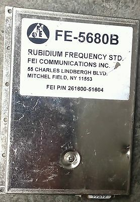 FEI fe-5680b rubidium oscillator With 1pps 20mhz output ONLY/10mhz NEED to MOD