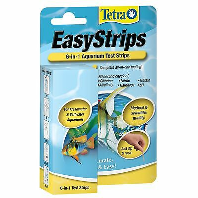 Tetra EasyStrips 6-in-1 Test Strips by Tetra 25-Strip 19542 hardness test NEW