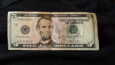 2009  United States $5 banknote,$1 dollar banknote