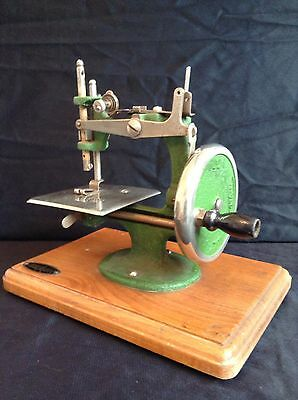 Antique Miniature Hand Crank Sewing Machine- Childs Sewing Machine- Grain