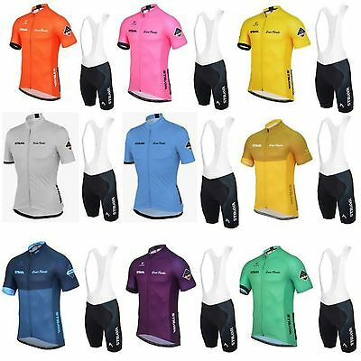 STRAVA CYCLING SET mens womens team bib short knickers bike sports jersey