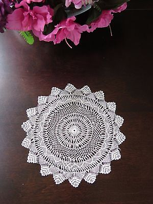 Rare Antique Armenian Knotted Needle Lace Doily Fine Handmade Vtg Example
