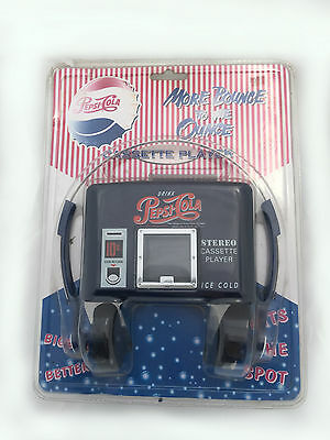 PEPSI COLA cassette Player with Headphones - walkman - Blister Sealed - Vintage
