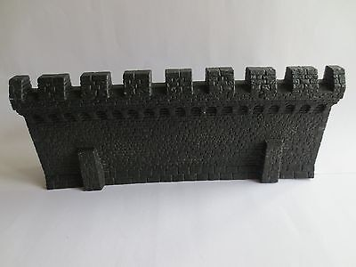 Warhammer Fortress Siege Wall Section Fantasy or LOTR Scenery Undercoated G01