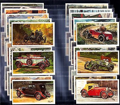 Superb MINT Full Set Players FAMOUS MG MARQUES 1981 Cigarette Cards In Sleeves