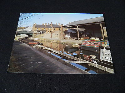 Staffordshire B Postcard Black Country Canal Scene Claytons Barge
