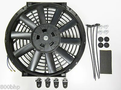 """11"""" / 28cm Universal Radiator Electric Cooling Fan with Fitting Kit (Slimline)"""