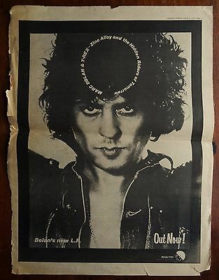 Marc Bolan & T.Rex - Zinc Alloy (Original 1974 Melody Maker Music Paper Advert)