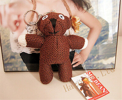 Mr.Bean Teddy Bear Plush Stuffed Doll Toy Cute Keychain Kid Toy 4""