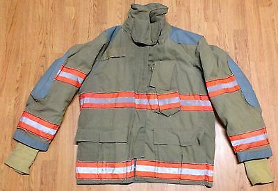 Vintage Globe Firefighter Bunker Turnout Jacket  44 x 32 1998