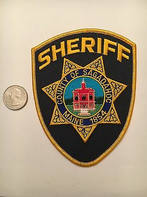 County Of Sagadahoc Maine Police Department Patch Me