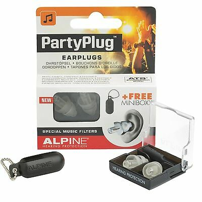 Alpine PartyPlug Ear Plugs for Loud Music Environments Clear