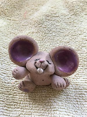 Clay Cute Silly Big Ear Mouse  Miniature Mice Figurine