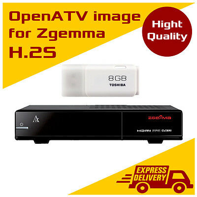 OpenATV 5.3 image for Zgemma Star H.2S with plugins on 8GB USB flash drive