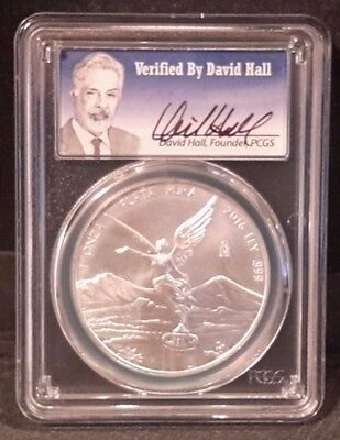 2016 Mexico Silver Libertad 1 oz DAVID HALL MS 70 PCGS First Strike only 100 pop
