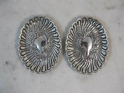 Pair Of Sterling Silver Dishes, Sheffield 1896, Hmss