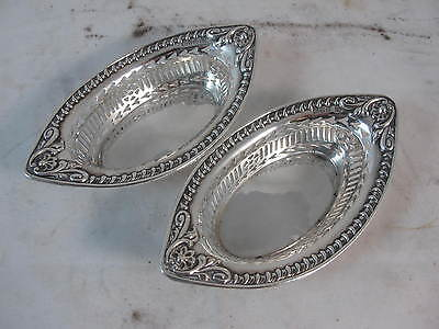 Pair Of Sterling Silver Dishes Chester 1901 Hmss